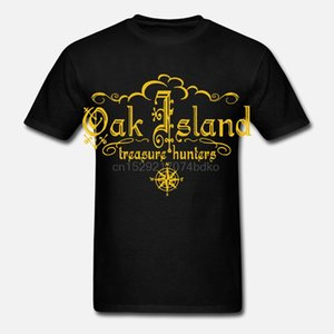 الصيادون البلوط جزيرة الكنز - T-shirt قمزة قميص للجنسين القطن