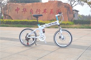 Mountain Bike Promotion 20-Inch Land Rover Carbon Steel Folding X6 Mountain Bike 21-Speed Second Hummer One-Wheel Gift Bicycle