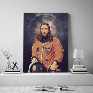 Wall Artwork Canvas Jesus Home Decor Painting HD Print Modern Astronaut Posters Cuadros Character Modular Pictures Living Room
