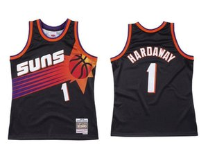 Erkekler basketbol PhoenixGüneş1 AnferneeHardaway Mitchell Ness 1999-1920 Hardwoods Classics Otantik Jersey