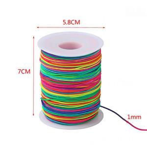 85m Rainbow Elastic Cord 1.2mm Thread Stretch String Craft Beading DIY Jewelry Ju01 20 Dropship