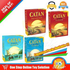 Catan Game Cards Trade Desenvolver Settle os colonos marítimos para o partido Board 5-6 jogadores Expansion Card Game 5ª Edição transporte rápido