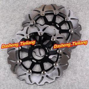 Los rotores de frenos de disco delanteros fijado para el ZXR750 1989-1995 ZXR 750R 1989-1992 ZRX 1200S 2001-2006 ZZR1100 1990-1992 Yhu4 #