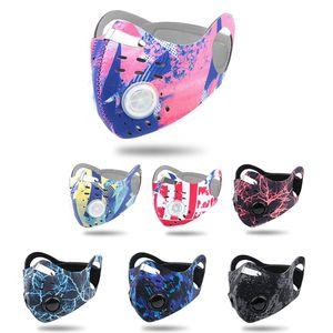 Neues Rad fahren Anti-Staub-Fahrrad-Gesichtsmaske Aktivkohle Reiten Radfahren Radfahren Laufen Anti-Pollution Bike Isolation Maske mit OPP-Filter