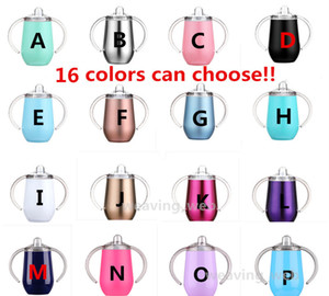 16colors!! Cup Water 10oz Kid Sippy BAP Stainless Vacuum Tumbler Handle With Leak Bottle Baby Proof Travel Cup Steel Insulated Bottle F Mjrf