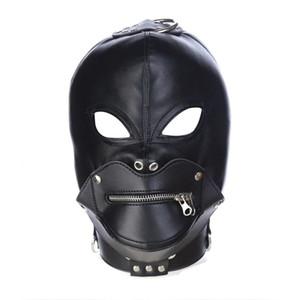 New Leather Headgear Mask Bondage Restraint Blind Mask SM Sex Toys For Couple Women Men Gay Headgear BDSM Toys