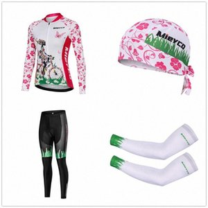 Conjuntos de alta qualidade mangas compridas Sports Ciclismo Roupas Multicolor Ciclismo Jersey para mulheres Corrida de MTB Jackets Braço mangas Caps wDdt #