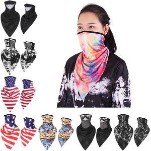 Spor Üçgen Eşarp Polyester Bisiklet Yüz 40 Stiller Fular Hızlı kuruyan Hip Hop Nefes Yürüyüş Bisiklet Maskeler Maske