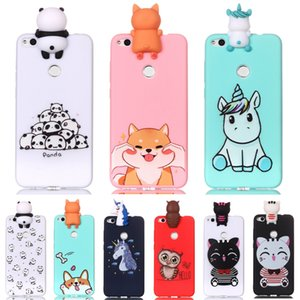 3D Soft Silicone TPU Cover For Huawei Honor 8 Lite Case Lovely Panda Cat Dog Unicorn Phone Case For Huawei P8 P9 Lite 2017 Cover
