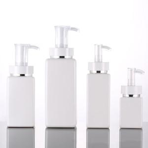 100ml-500ml PET Kare Losyon Pompası Şişeler Alkol Jel Dezenfektan Şampuan El Temizleyici Kozmetik Alt Ambalaj Plastik Şişe Şişe