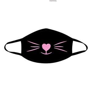 Yeniden kullanılabilir Komik Baskılı Filtre Nefes PM2.5 Hava Filtre Üst Facemask Kapak Mascarillas Maske Motosiklet toz geçirmez Maske