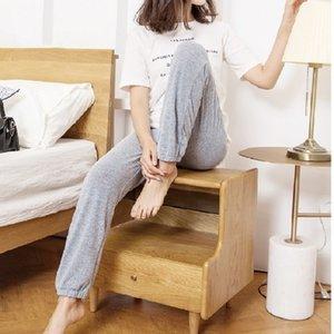 Mianziduo 2020 nuevos pantalones de moda para mujer pantalón a cuadros de alta elasticidad envío polainas buena calidad de algodón de la mujer de Calle