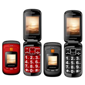 Оригинал Флип Двойной Двойной экран телефон с двумя SIM-карты SOS ключ быстрого набора Сенсорный почерка Большая клавиатура FM Старший Cellphone для пожилых людей