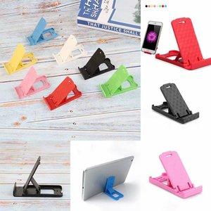 Adjustable Plastic Phone Holder Stand Desktop Foldable Mount Cell Phone Tablet Random Color