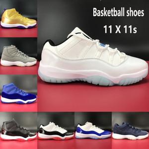11 11s Jumpman scarpe da basket bassa leggenda blu bianco allevati SE metallizzato oro apice velluto grigio Heiress blu uomini donne scarpe da ginnastica SPORT