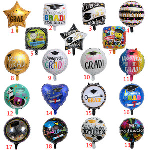 50pcs lot Congrats Grad Balloons Graduation 2020 Foil Balloons Graduation Gift Globos Back To School Decorations Birthday Party