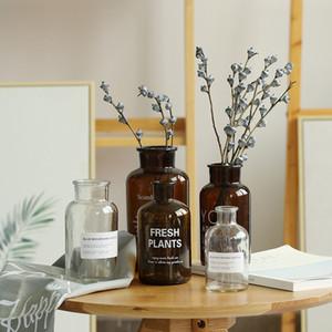 hoto Studio Accessories Nordic Style Retro Transparent Brown Glass Bottle Bedroom Vase Desktop Photography Accessories Studio Photo Backd...