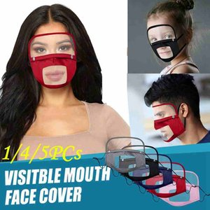Escudo olho visível face Boca tampa removível Anti Poeira reutilizável lavável transparente Lip Idioma Mask Deaf Mute face CYZ2521 700Pcs