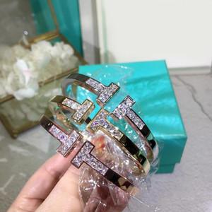 Diseño clásico 316L de titanio amantes del punk brazalete de acero diamantes con el diamante para las mujeres regalo de la joyería del brazalete de PS5345A envío libre