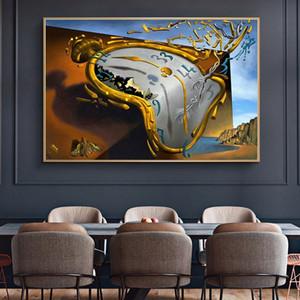 Salvador Dalí La persistencia de la memoria Pinturas famosa tela arte de la pared Posters and Prints Pared Fotos Decoración