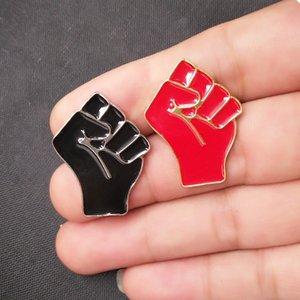 Preto Vidas Matéria pins Eu não posso respirar Raised Fist of Solidariedade esmalte pin o saco do chapéu Roupa lapela o emblema do Pin Jóias presente