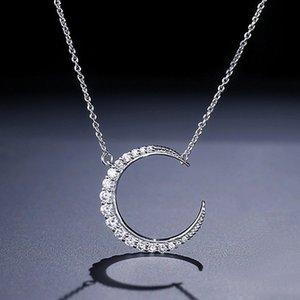 2020 Designer nouveau à la mode la lune est simple collier pendentif pour fille amoureux amour fête cadeau bijoux en gros moonso X5224