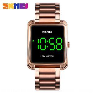 Shikemei hot Square LED steel Screen Electronic belt watch key screen display LED digital electronic watch
