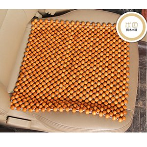 Fantastic Summer Hot Selling Car Four Seasons Cool Mat Double Line Seat Cover Car Seat 45*45cm Wooden Bead Cushion New