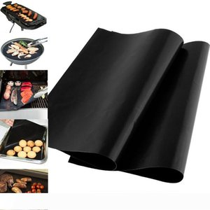 33*40 cm BBQ Grill Liner Mat Reusable Barbecue Heat Resistant Grill Mat Sheet Microwave Oven Cooking Mat Cover LX3470