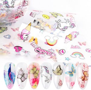Quick Nail Art Film Unicorn Butterfly Nail Foil Wraps Starry Sky Nail Art Decoration 10pcs Mixed Pattern Set