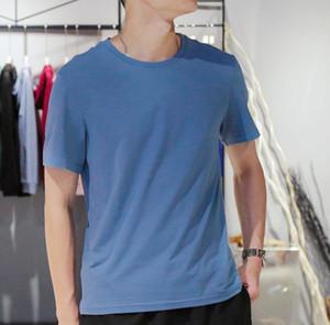 Katı Renk O-boyun tişörtleri Man Yaz 5XL Yüksek Moda Kısa Kollu Tees Erkekler Oversize Günlük Tops mens