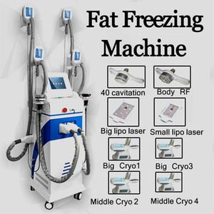 Cryolipolysis Fat Freezing Machine Slimming 40Khz Cavitation Rf Skin Tightening Lipo Laser Two Freezing Handle Can Work At The Same Time