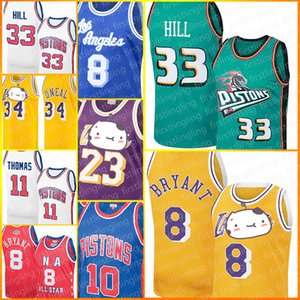 Detroit Pistons Grant Colline Jerseys 8 Bryant Los Angeles LeBron James 23 Jersey Derrick Rose Isiah Thomas Dennis Rodman Earvin Shaquille John