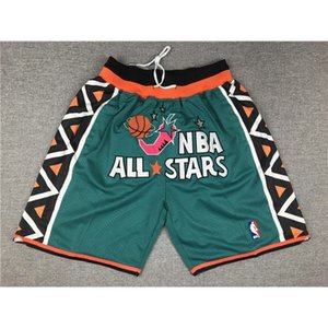 73 JERSEYS BASKETBALL JERSEYS SPORTS WEARS S-XXL 96 ALL STAR GREEN POCKET SHORTS Cheap stitched Basketball jerseys
