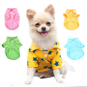 Summer Pet Breathable Polo Shirt Simple Dog Clothes Cat Clothes Sweets Colorful Shirt For Love Pet Chihuahua Teddy 043
