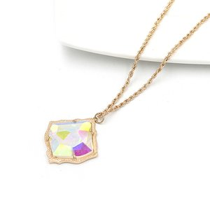 2020 July New Arrival Mirro Face Big Kite Acrylic Inlay Cooper Pendant Necklace Better Quality Cute 3D Resin Pendant Necklace