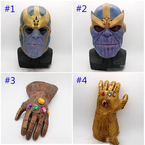 Avengers 3 Infinity War Thanos mask and gloves 2018 New Children's adult Halloween cosplay Natural latex Infinity Gauntlet Toys