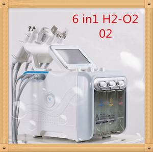 US6 in 1 Dermabrasion d'hydrafacie Machine d'eau d'oxygène Jet d'oxygène Jet Hydre Hydra Skin Beauty Nettoyant Profond Nettoyant RF Face Face Soulever le marteau froid