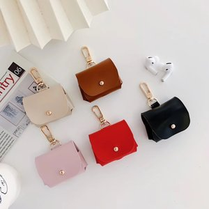 2020 new designer airpods Pro cases for Airpods Pro PU Cover Fashion Anti Lost Hook Clasp Keychain for Airpod Case free shipping