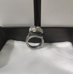 Bague véritable de qualité supérieure Bague de serpent d'enroulement tridimensionnel Haute Qualité 925 Sterling Sterling Bague Personnalisé