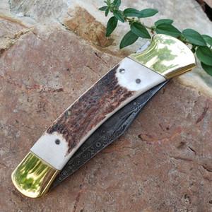 Classic BK 110 Forgé Damas Blade de Damas 58-60 Couteaux HRC Survival Camping Couteau de chasse Pliante Cadeau Cadeau pour hommes