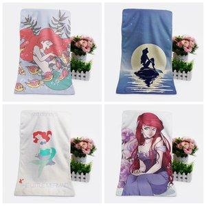 IVYYE 1PCS Mermaid forma personalizada Anime Toalhas de banho Lenço Macio toalha de rosto dos desenhos animados Washcloth Unisex NOVO