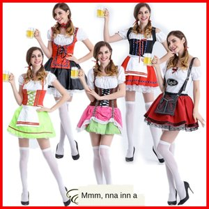 Halloween COS alemã Munich festival bar traje cerveja menina roupas Preto Beer Stage roupas roupa Figurino