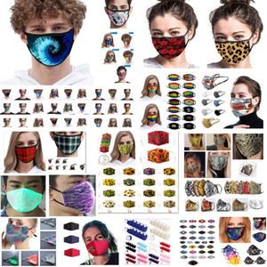 máscaras de moda pode ser lavado e algodão de seda reutilizáveis rosto máscaras de gelo material de poeira respirável XD23764 máscara
