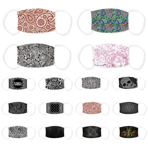 Paisley designer face mask 3D printing adjustable protective mask dust and haze with PM2.5 filter cross-border breathable face masks