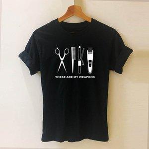 Barber T Shirt Women Short Sleeve O-Neck Cotton Heartbeat of Hairdresser T-shirt Girls Woman Scissors Clothing Tops