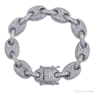 Diamond Bracelet Best Quality Hip-Hop Cuba Bracelet Full Diamond Micro Cubic Zirconia Men Jewelry Copper Plating18k Gold Siver Men Fashion
