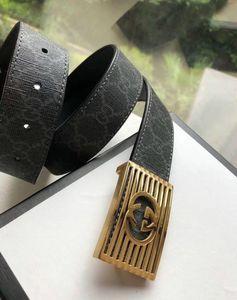 yangzizhi7 Formal metal hollow inner wear buckle classic printed belt Mens Belts For Men Women Belt With Box