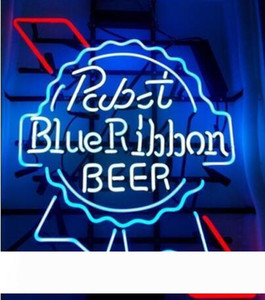 """New Pabst Blue Ribbon Beer Real Glass Neon Sign light Beer Bar Sign Send need photo 19x15"""""""