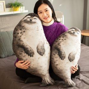 40-120cm Chubby Big Seal Soft Plush Pillow Animal Toy Cute Ocean Animal Stuffed Doll Baby Sleeping Pillow Seal Pillow Gifts MX200716